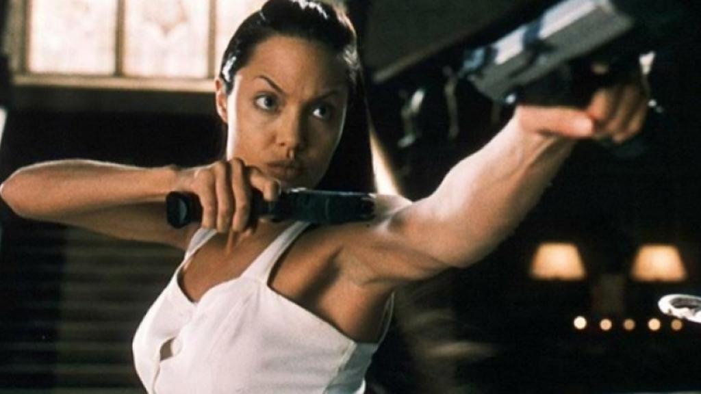 Filmvrouwen Angelina Jolie in Lara Croft: Tomb Raider