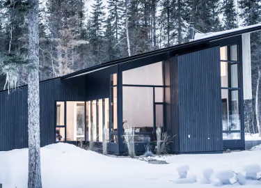 moderne Canadese chalet